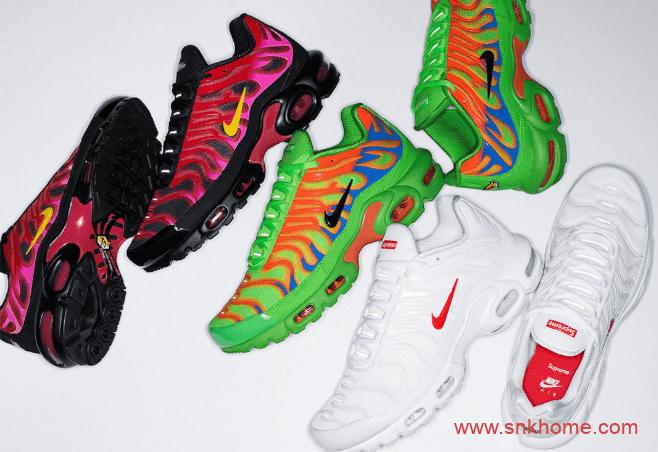 耐克AIR PLUS TN气垫SUP联名三款配色 Supreme x Nike Air Max Plus TN发售日期 货号:DA1472-300/DA1472-600-潮流者之家