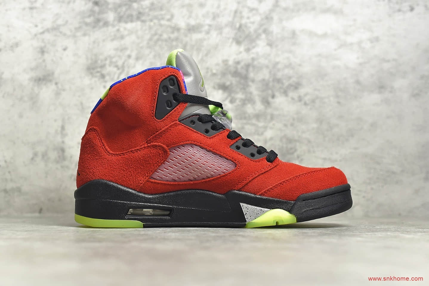 "AJ5 WHAT THE红黄鸳鸯球鞋 Air Jordan 5 ""What The"" AJ上海限定配色 货号:CZ5725-700-潮流者之家"