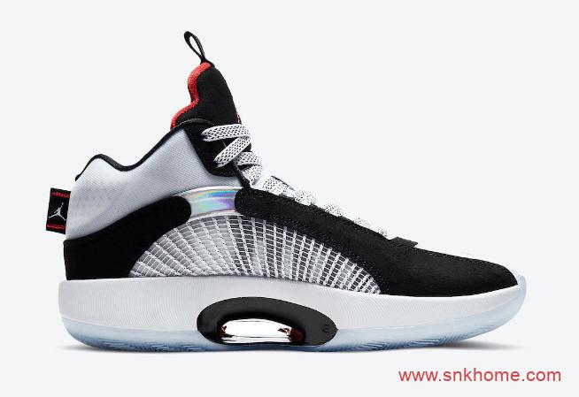 "AJ35黑白实战篮球鞋 Air Jordan 35 ""DNA"" AJ35DNA球鞋发售日期 货号:CQ4227-001-潮流者之家"