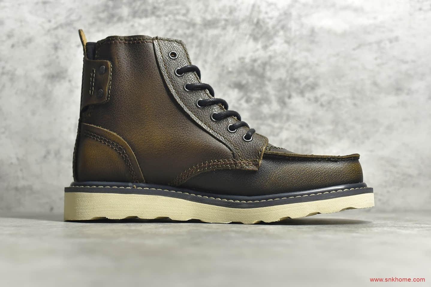 卡特高帮头层牛皮复古马丁靴 CAT FOOTWEAR P712950 CAT 卡特油腊皮进口品质原单卡特正品-潮流者之家