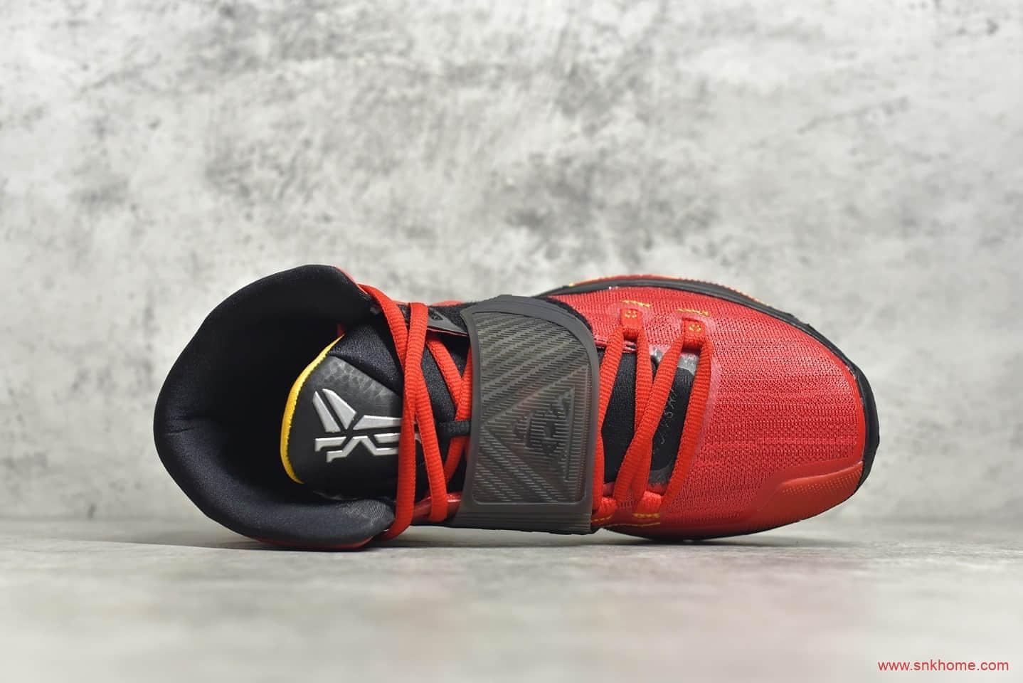 耐克欧文6李小龙球鞋 灭世纯原欧文6 最终章李小龙80周年诞辰 欧文6代黑红战靴 货号:CJ1290-600-潮流者之家