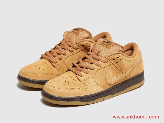 """耐克Dunk SB小麦低帮曝光 Nike SB Dunk Low Pro """"Wheat Mocha"""" 耐克Dunk低帮休闲鞋 货号:BQ6817-204-潮流者之家"""