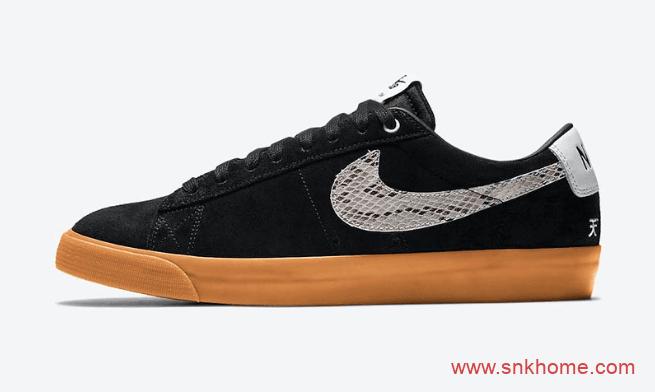 耐克SB蛇纹钩黑色鞋面板鞋 Wacko Maria x Nike SB Blazer Low 耐克SB日本时装品牌新联名  货号:DA7257-001-潮流者之家