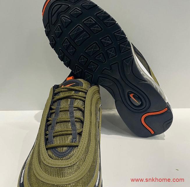 耐克MAX97 UNDEFEATED联名款三个配色 UNDEFEATED x Nike Air Max 97 耐克子弹气垫军绿色 货号:DC4830-300-潮流者之家