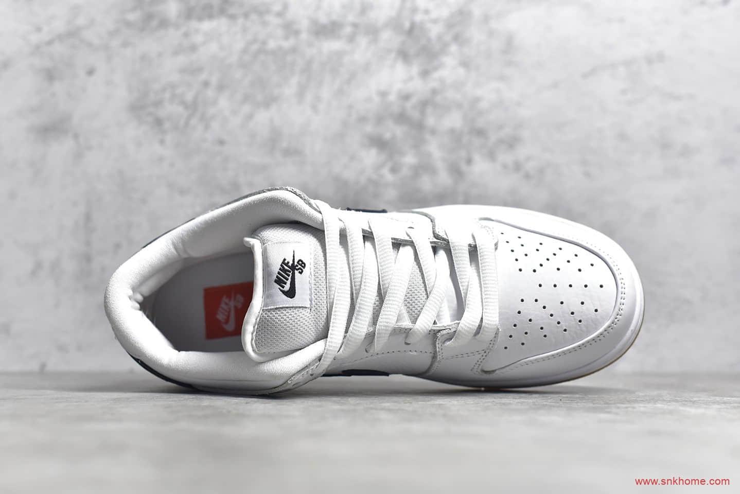 耐克DUNK SB白黑色低帮 NIKE SB Dunk Low Pro ISO 黑白经典低帮板鞋 货号:CD2563-100-潮流者之家