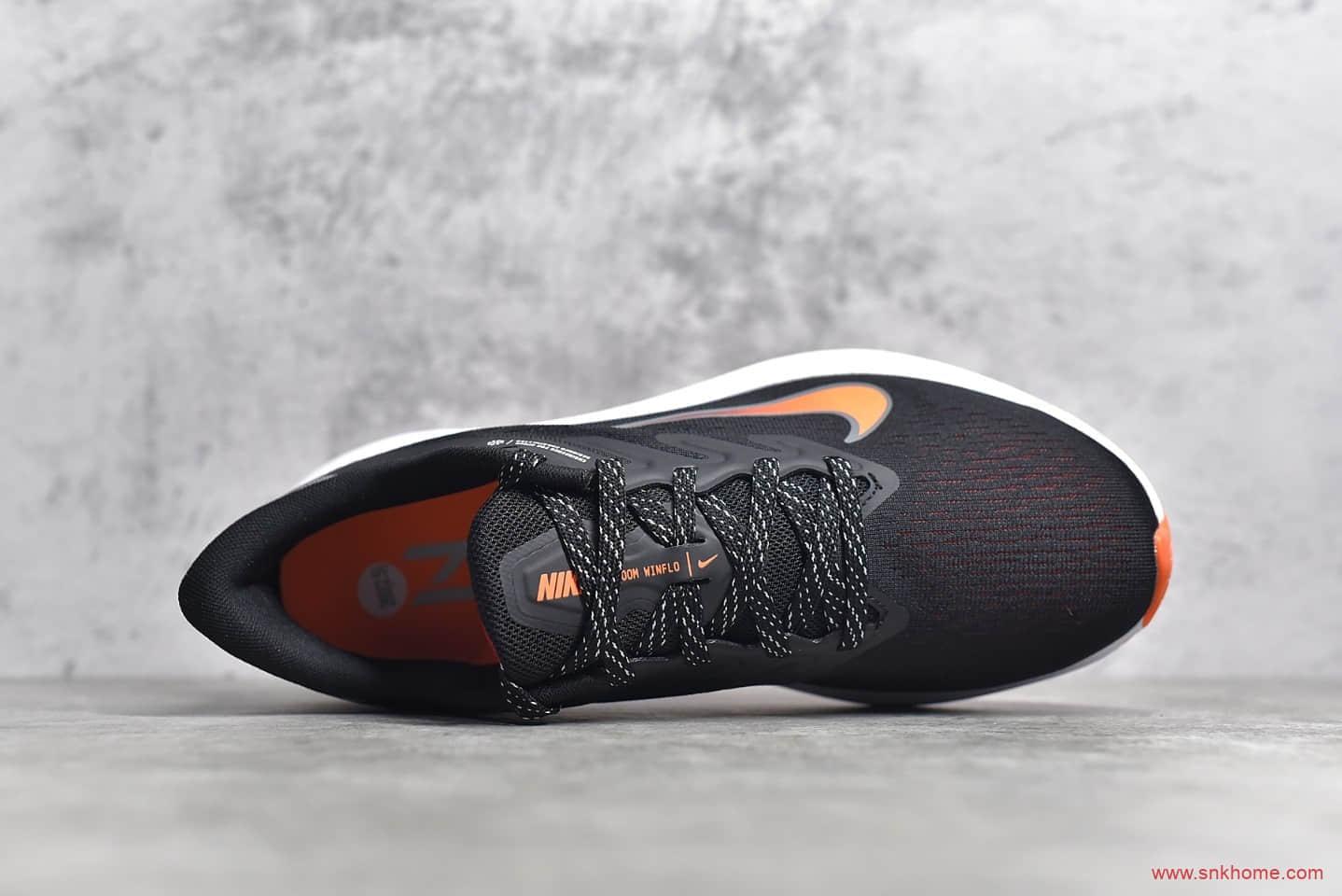 耐克登月7代黑橙色跑鞋 NIKE Air Zoom Winflo 7 登月7代网面透气 耐克登月工厂 货号:CJ0291-011-潮流者之家