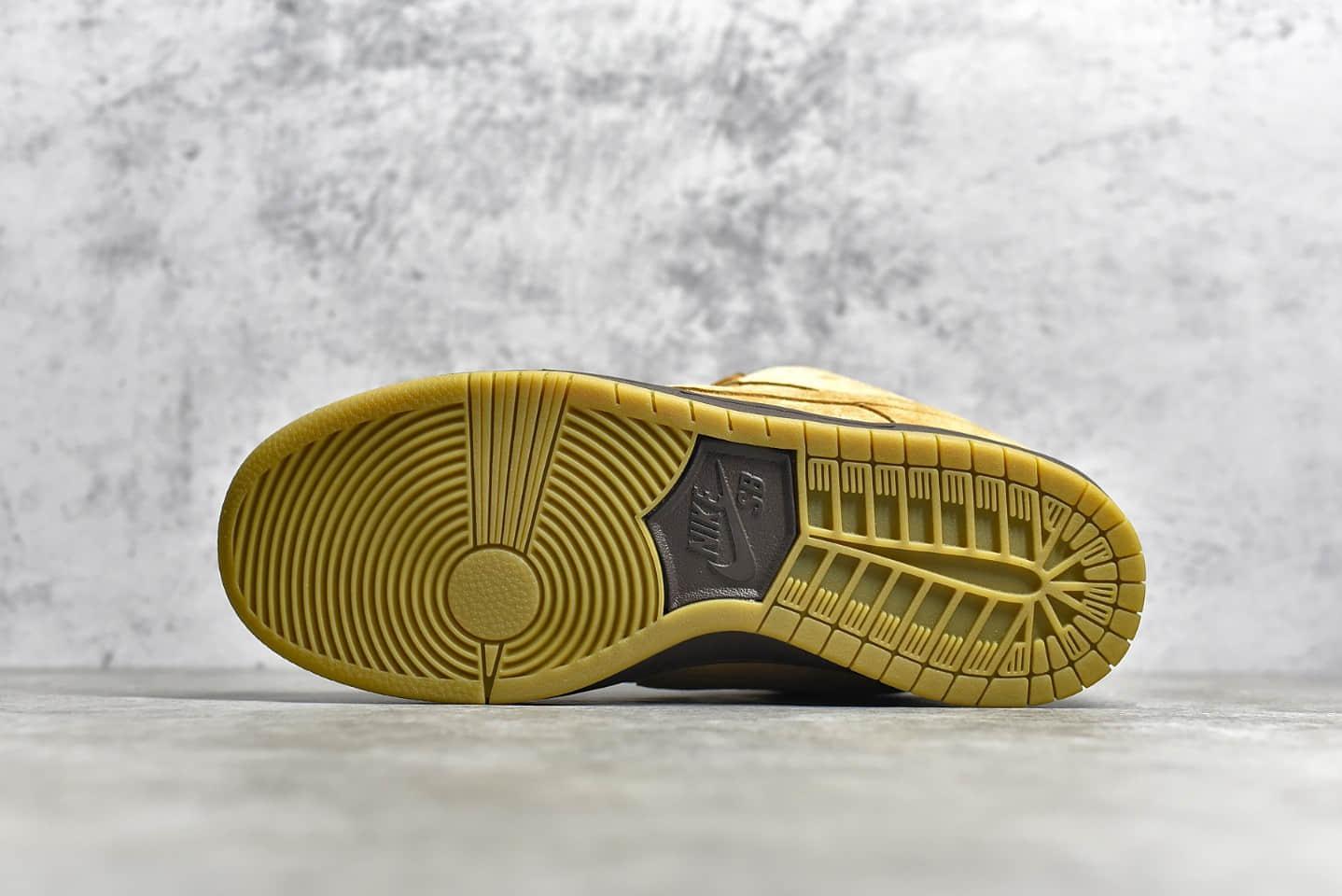 耐克SB Dunk小麦低帮板鞋 NIKE SB Dunk Low 纯原版本耐克小麦色板鞋深棕色搭配生胶大底 货号:BQ6817-204-潮流者之家