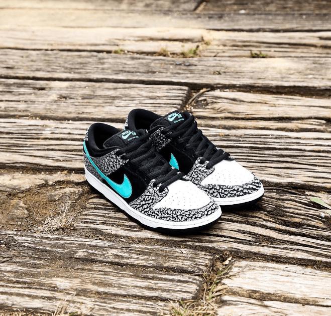 """耐克Dunk SB大象爆裂纹 Nike Dunk SB Low Pro """"Elephant"""" 耐克黑水泥低帮板鞋发售日期 货号:BQ6817-009-潮流者之家"""
