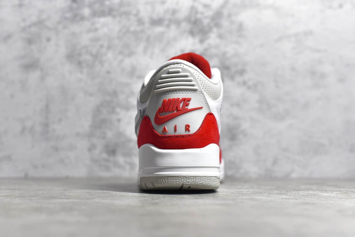 """AJ3白红魔术贴换钩球鞋纯原版本 Air Jordan 3 Tinker """"Air Max 1""""魔术贴换勾 货号:CJ0939-100-潮流者之家"""