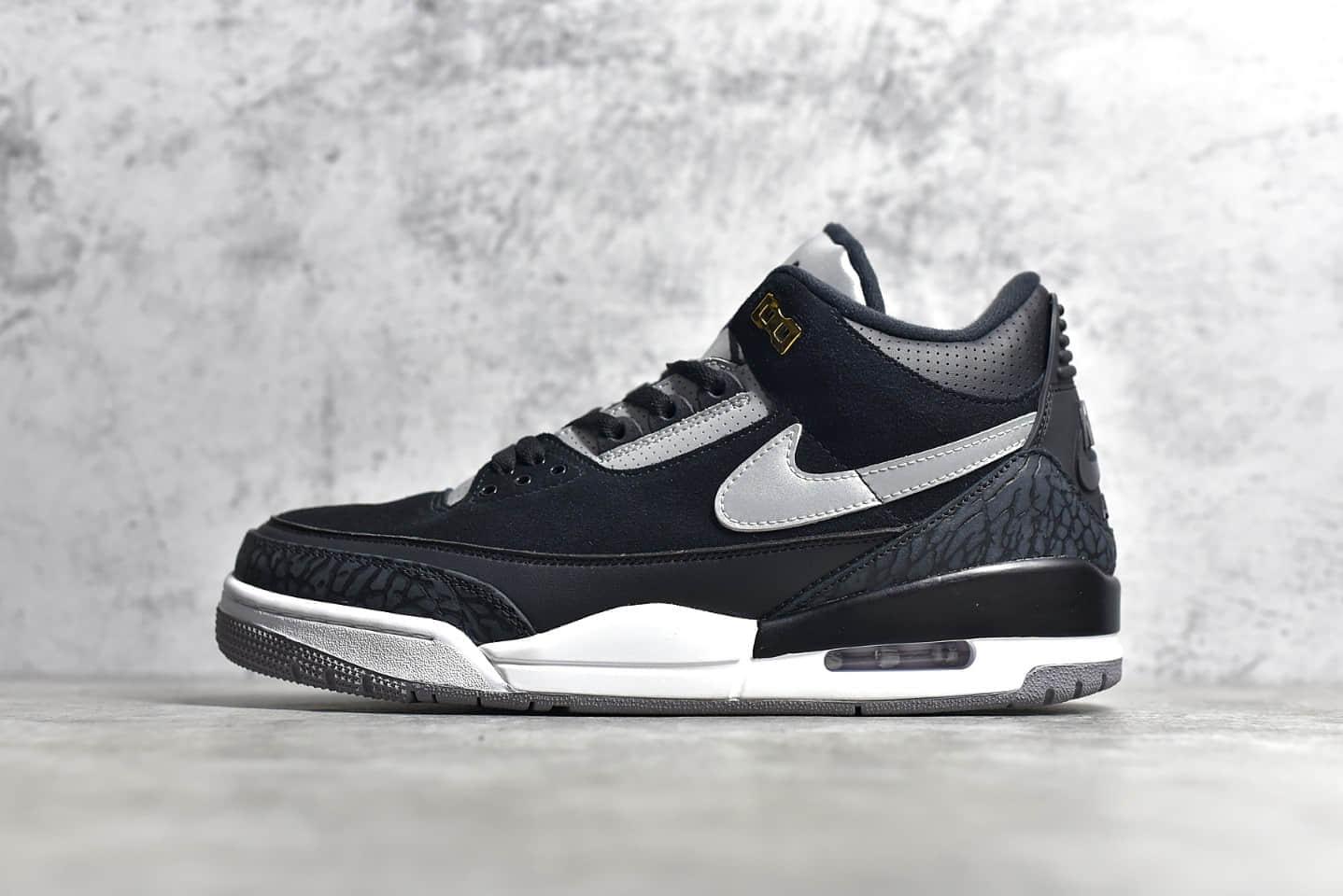 AJ3黑水泥反光 Air Jordan 3 Retro Tinker 纯原版本AJ3黑色绒面皮实战球鞋 货号:CK4348-007-潮流者之家