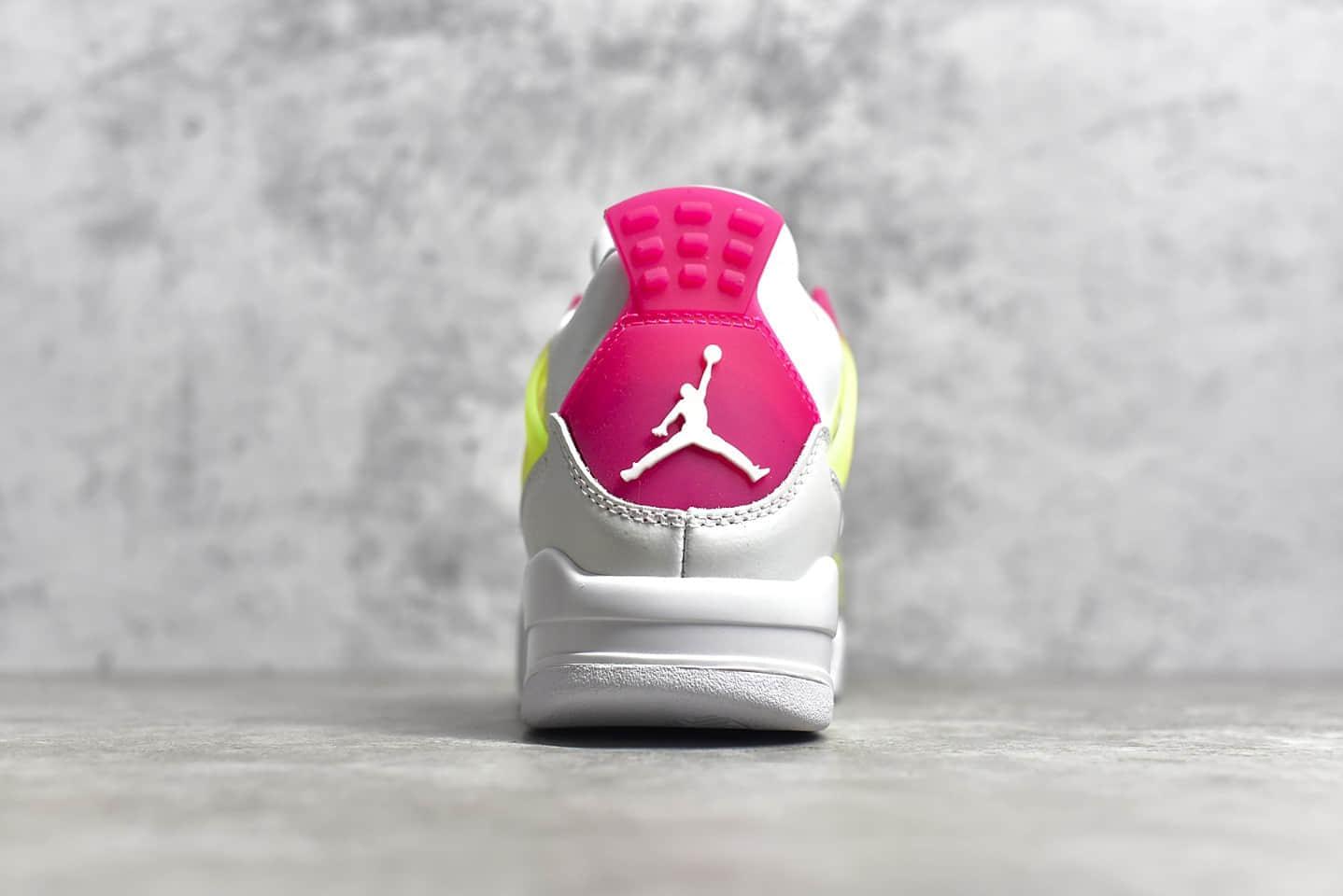 "AJ4 缤纷糖果 Air Jordan 4 GS ""Lemon Venom"" AJ糖果女生球鞋 货号:CV7808-100-潮流者之家"