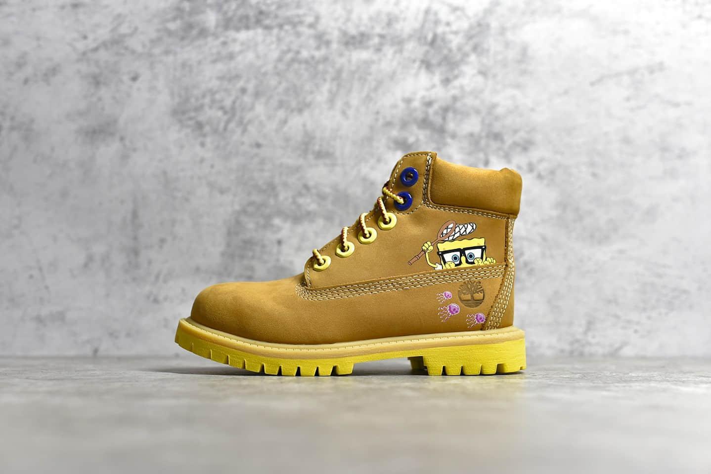 天伯伦童鞋海绵宝宝联名 Timberland x SpongeBob 顶级高版本天伯伦海绵宝宝亲子款20周年纪念款-潮流者之家