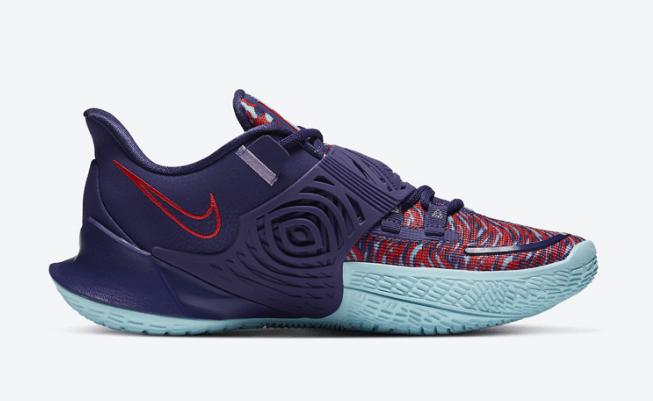 """耐克欧文3新款战靴官图 Nike Kyrie Low 3 """"New Orchid"""" 欧文三代实战球鞋新配色 货号:CJ1286-500-潮流者之家"""
