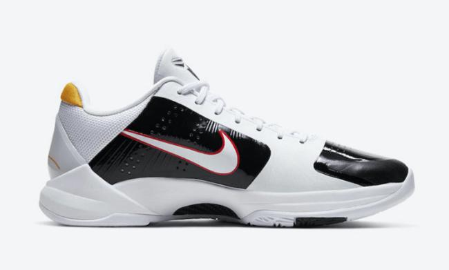 """耐克科比五代李小龙配色 Nike Kobe 5 Protro """"Alternate Bruce Lee"""" 科比黑金黑白两款球鞋 货号:CD4991-101-潮流者之家"""