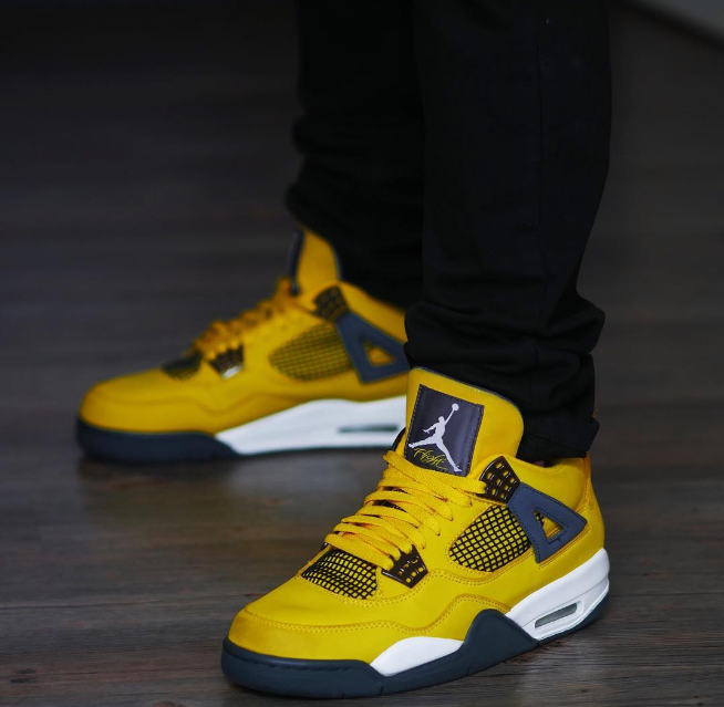 "AJ4电母详细发售信息 Air Jordan 4 ""Lightning"" AJ5黄色电母复刻即将回归 货号:CT8527-700-潮流者之家"