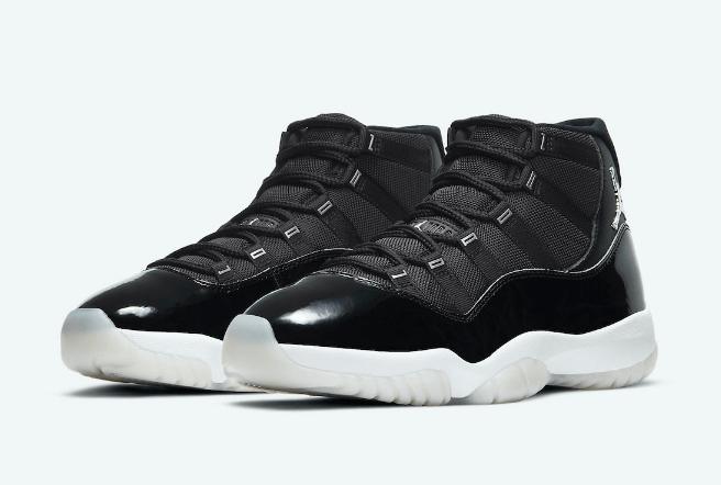 """AJ11大魔王2.0上脚图官网图 Air Jordan 11 """"Jubilee"""" AJ11黑白高帮球鞋发售日期 货号:CT8012-011-潮流者之家"""
