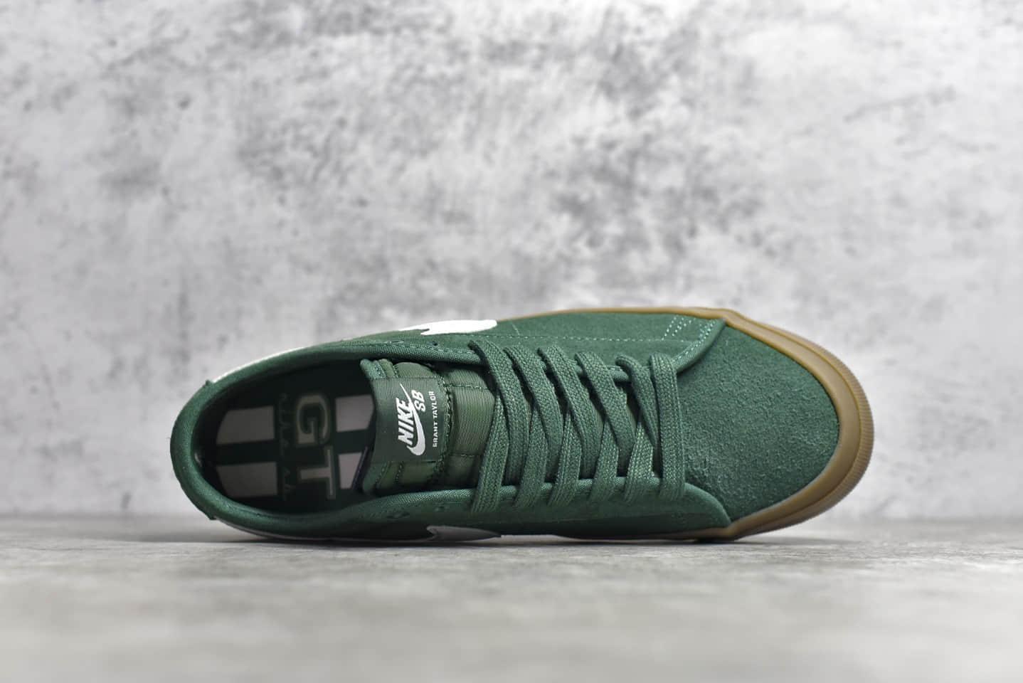 耐克SB绿色生胶板鞋 NIKE SB Zoom Blazer Low白绿生胶纯原版本耐克帆布鞋 货号:DC0603-300-潮流者之家