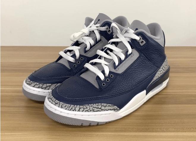 "AJ3午夜蓝明年年初发售 Air Jordan 3 ""Midnight Navy"" AJ3灰蓝中帮球鞋实物图 货号:CT8532-401-潮流者之家"