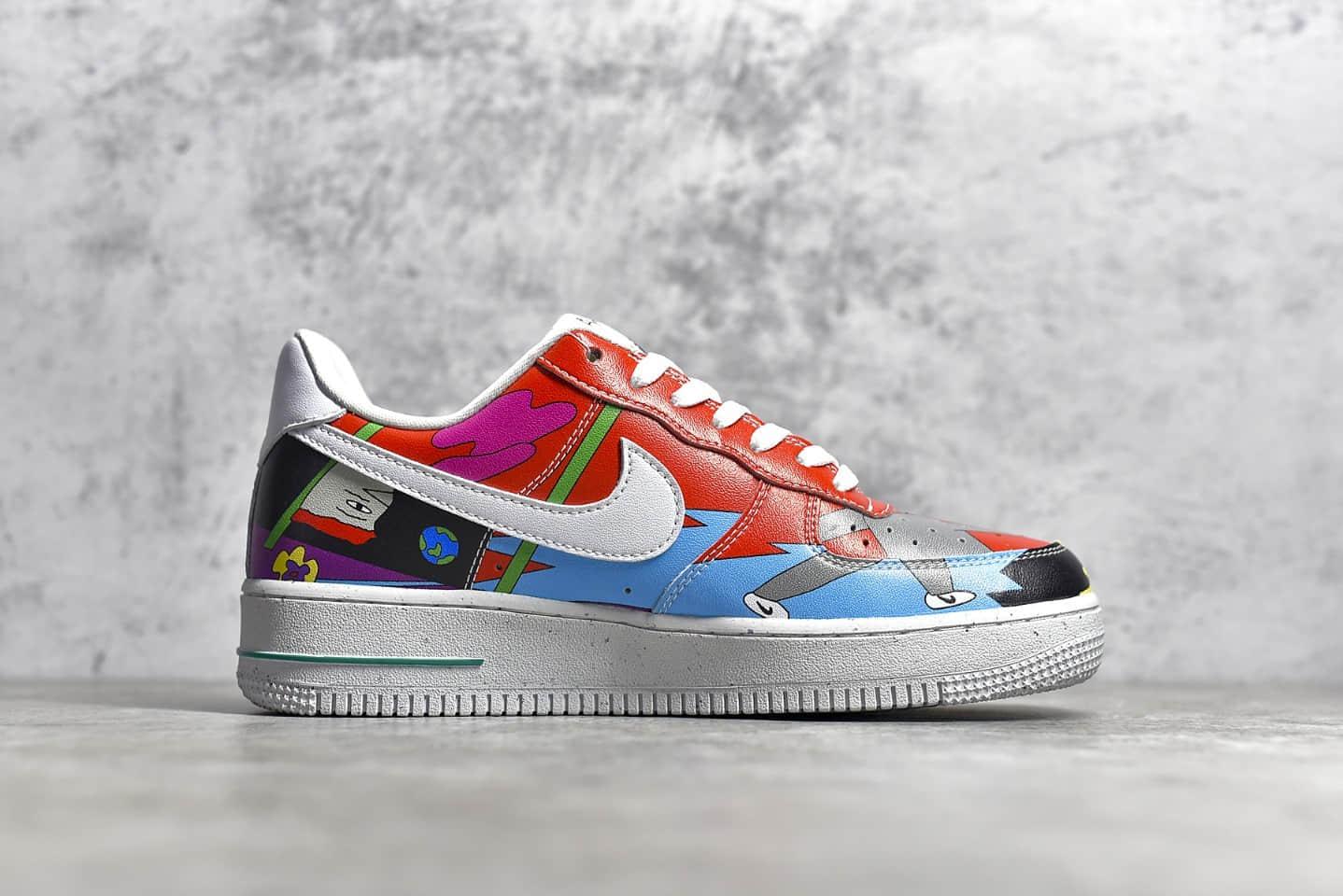 耐克空军一号张若涵联名涂鸦低帮 Ruohan Wang x Nike Air Force 1 Low(2020)华人艺术家联名 货号:CZ3990-900-潮流者之家