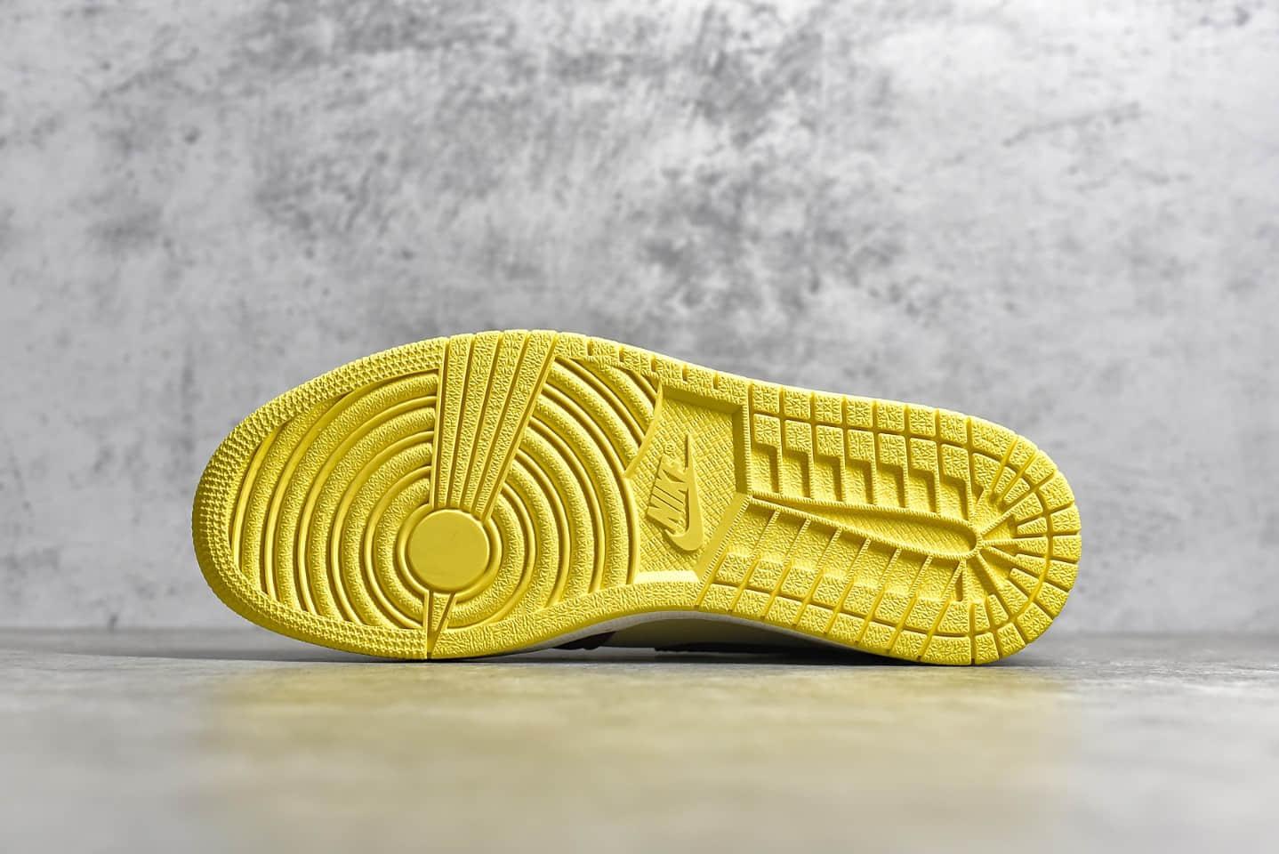 """AJ1中帮非洲风情 Air Jordan 1 Mid""""Fearless""""X Maison Chateau 雕刻花纹AJ1中帮新配色 货号:CU2803-200-潮流者之家"""