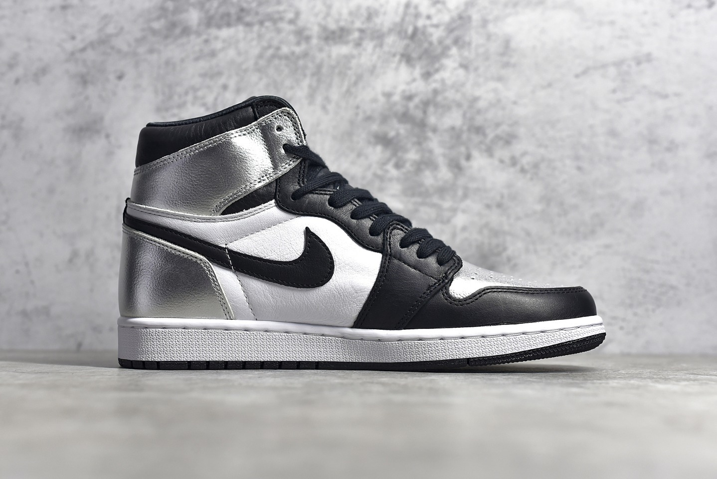 AJ1黑银高帮文化篮球鞋 Air Jordan 1 High OG 原厂AJ黑银SG纯原版本 货号:CD0461-001-潮流者之家