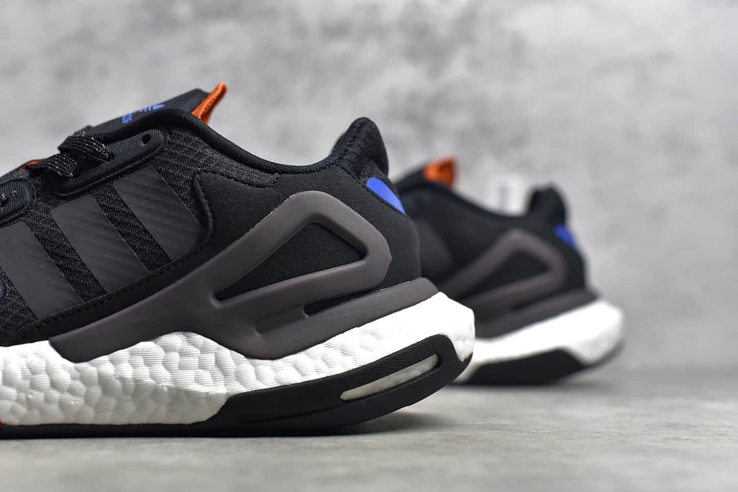 阿迪达斯夜行者二代BOOST跑鞋 Adidas Day Jogger 夜行者二代黑色高弹跑鞋 货号:FW4818-潮流者之家