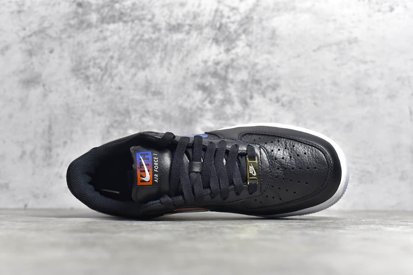 耐克空军KITH联名黑色鞋面红蓝鸳鸯钩 KITH x Nike Air Force 1