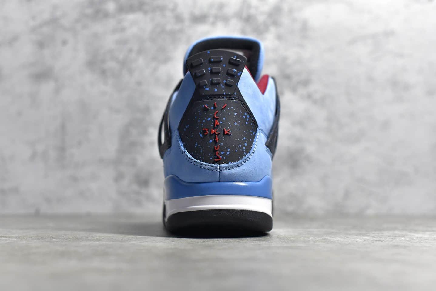 AJ4TS联名蓝色麂皮 Travis Scott x Air Jordan 4 Retro 莆田AJ货源 货号:308497-406-潮流者之家