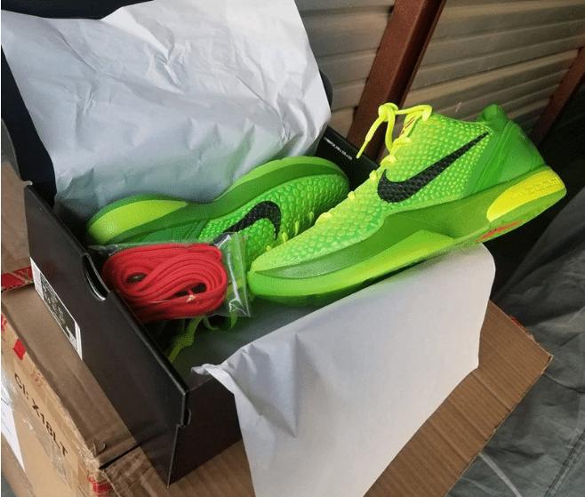 耐克科比6代签名绿色球鞋 Nike Kobe 6 Protro 科比战靴最新实物图 货号:CW2190-300-潮流者之家