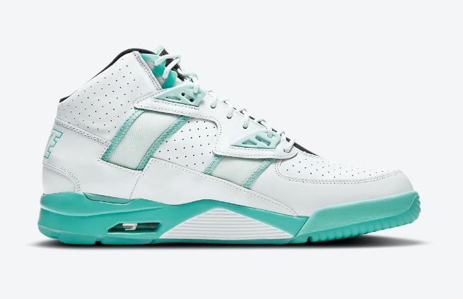 """耐克璀璨流光白蓝配色气垫网球鞋 Nike Air Trainer SC High """"Abalone""""新配色发售日期 货号:DD9615-100-潮流者之家"""