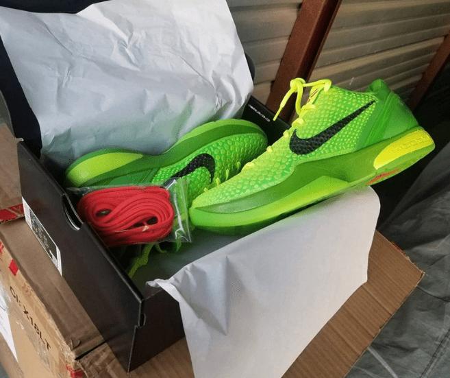 耐克科比6代青蜂侠战靴 圣诞 Nike Kobe 6 Protro 耐克科比绿色实战球鞋 货号:CW2190-300-潮流者之家