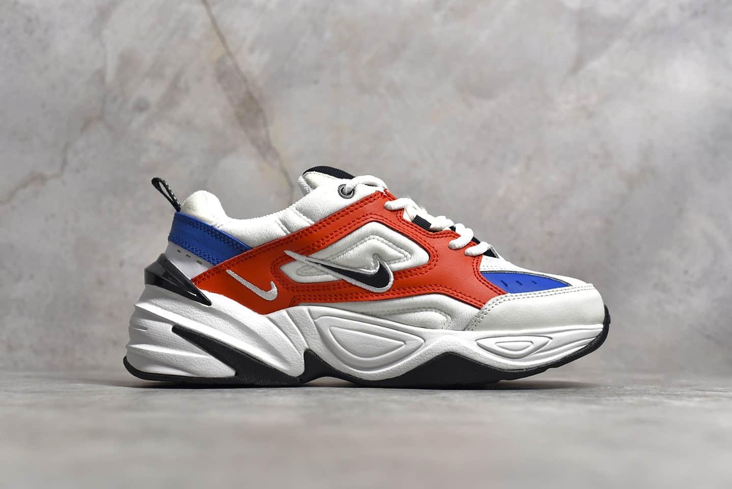 耐克M2K白红蓝老爹鞋跑鞋 NIKE M2K Tekno 纯原版本高品质耐克M2K复古慢跑鞋 货号:AV4789-100-潮流者之家