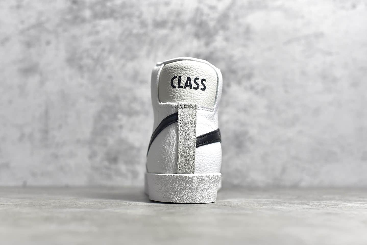 耐克开拓者倒钩高帮 NIKE ZOOM BLAZER MID CJ纯原版本耐克开拓者白色高帮板鞋 货号:白倒勾CD8233-100-潮流者之家