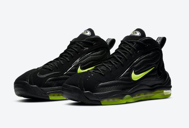 耐克黑绿气垫跑鞋 Nike Air Total Max Uptempo 风靡90年代的耐克气垫复刻 货号:DA2339-001-潮流者之家