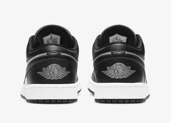 """AJ1黑灰低帮亮晶晶 Air Jordan 1 Low """"Silver Toe"""" 新配色AJ1低帮发售日期 货号:DA5551-001-潮流者之家"""