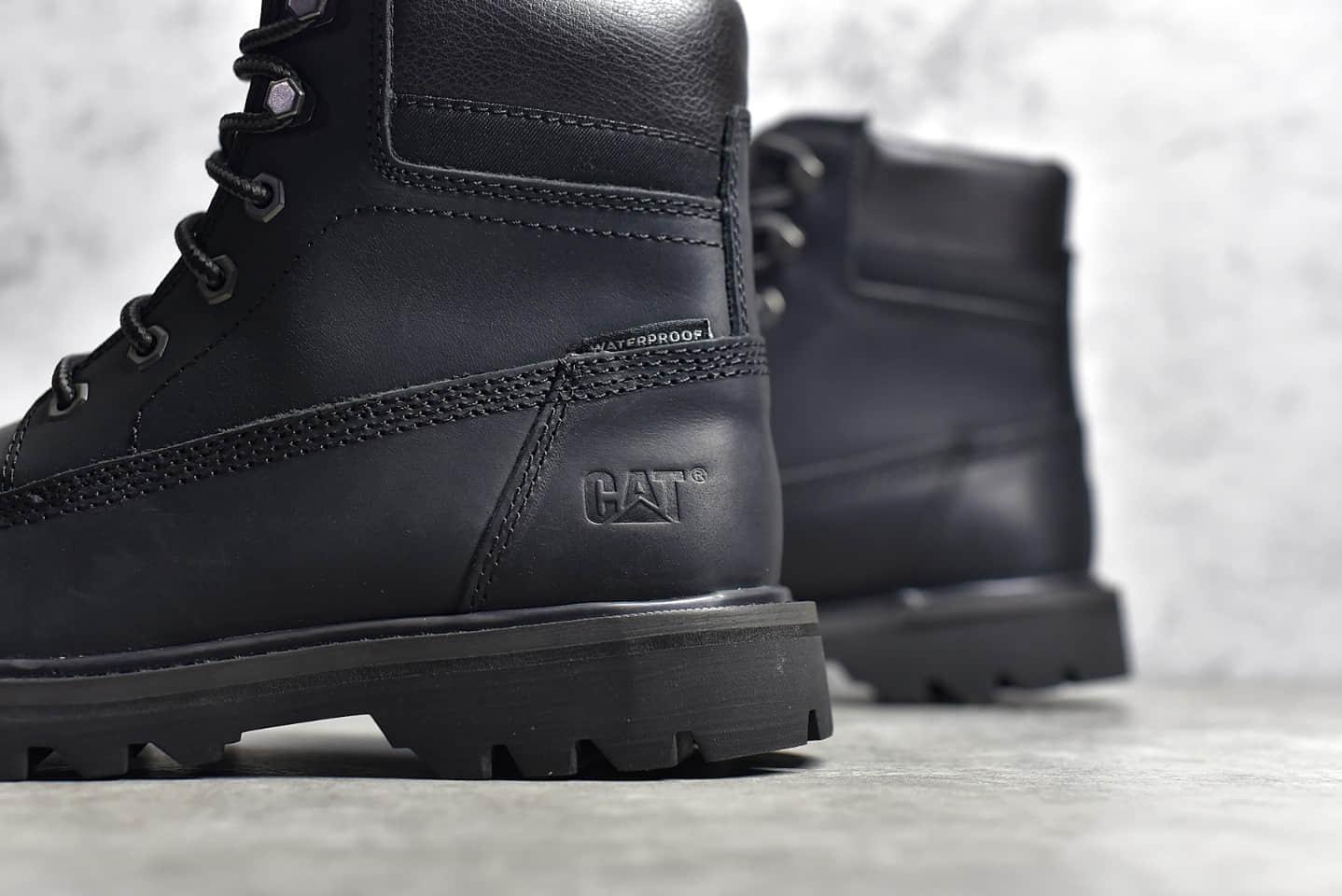 卡特二代黑色马丁靴 CAT/720二代 莆田顶级卡特户外工装黑色马丁靴-潮流者之家