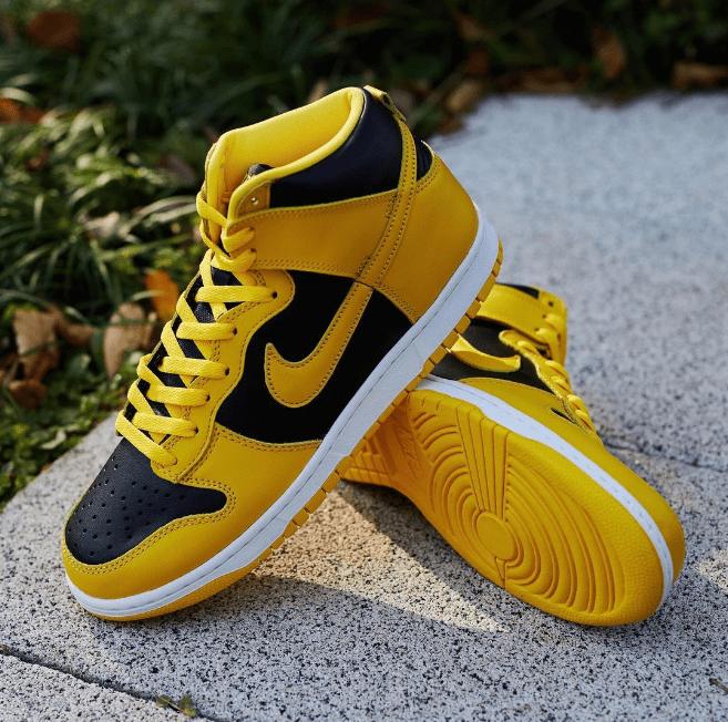 """耐克Dunk小武当配色 Nike Dunk High SP """"Varsity Maize"""" 耐克Dunk黑黄中帮发售日期 货号:CZ8149-002-潮流者之家"""