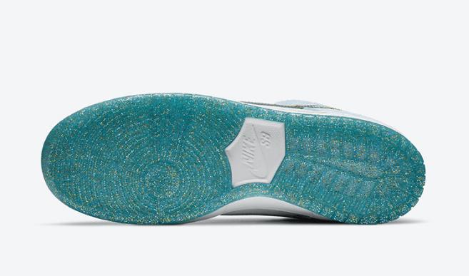 耐克Dunk天鹅绒白浅蓝低帮 Sean Cliver x Nike SB Dunk Low 新款耐克Dunk SB高质感 货号:DC9936-100-潮流者之家