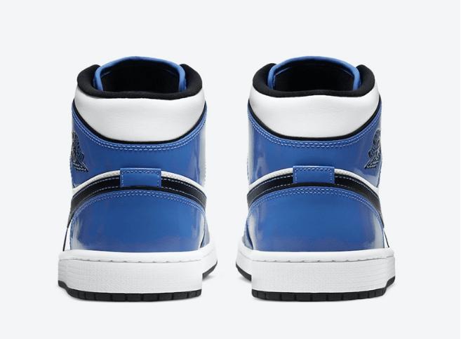 "AJ1二次元小闪电 Air Jordan 1 Mid SE ""Signal Blue"" 白蓝AJ1中帮发售日期 货号:DD6834-402-潮流者之家"