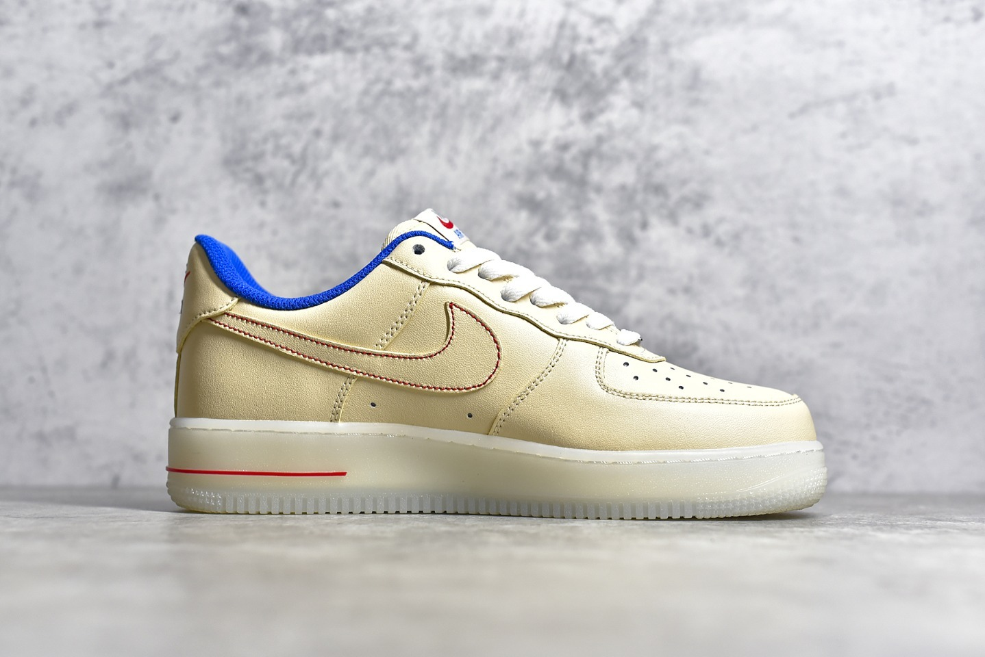 耐克空军米黄色果冻底低帮 Nike Air Force 1 Low CJ纯原版本耐克内置SOLE蜂窝气垫板鞋 货号:DH0928-800-潮流者之家