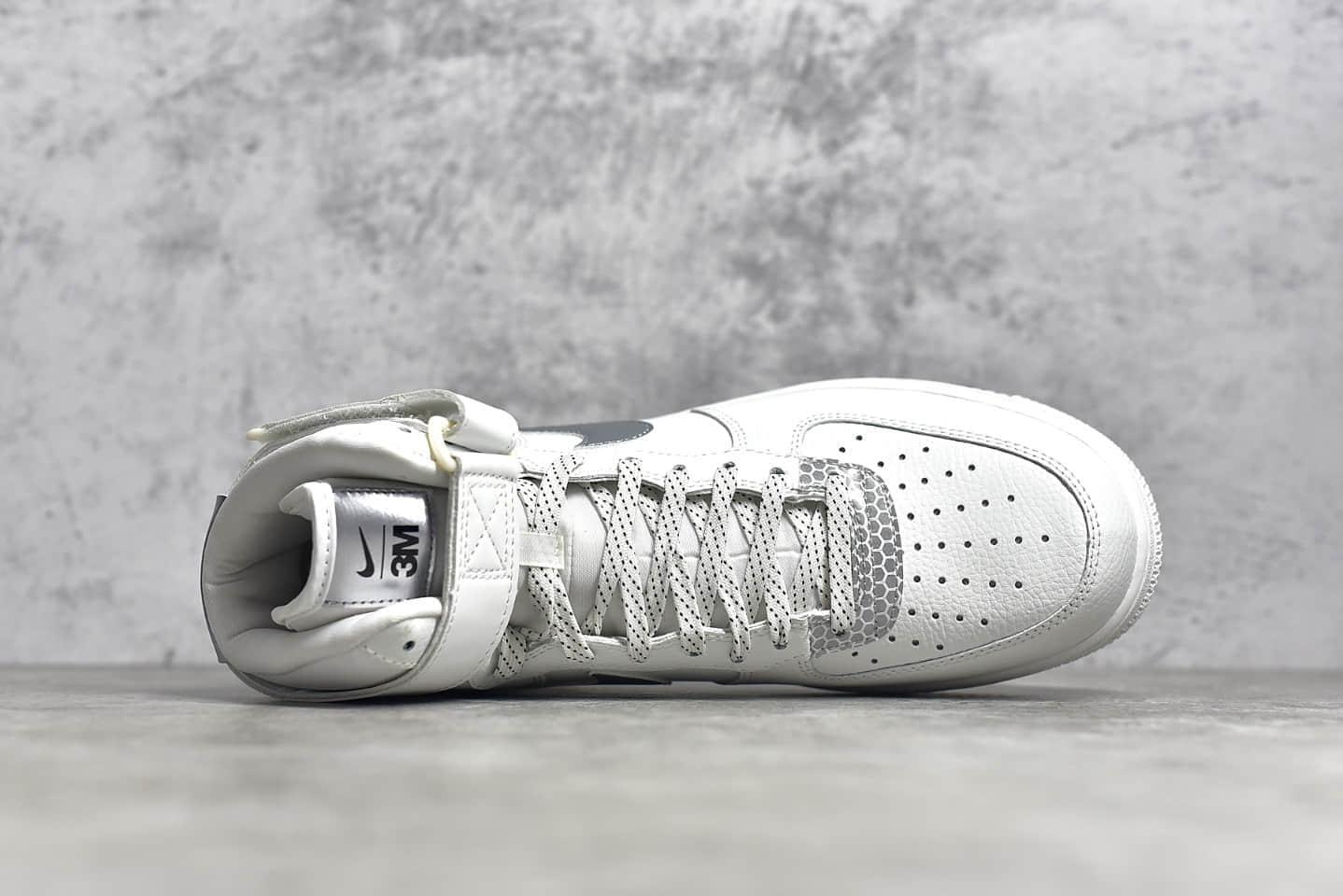 耐克空军一号3M反光公司联名高帮 Nike Air Force 1 x 3M 耐克空军反光高帮板鞋 货号:CU4159-100-潮流者之家