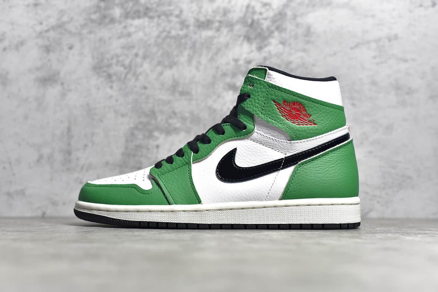 """AJ1凯尔特人高帮酷似喜力的一个配色 Air Jordan 1 Retro High OG AJ1"""" Lucky Green""""原厂顶级 货号:DB4612-300-潮流者之家"""