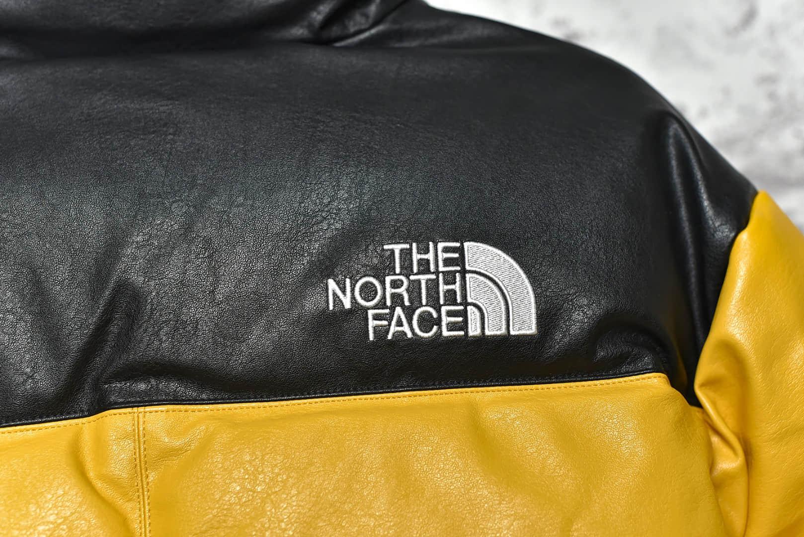 北面supreme联名款黄黑羽绒服 Supreme x The North Face联名 顶级版本北面羽绒服渠道-潮流者之家