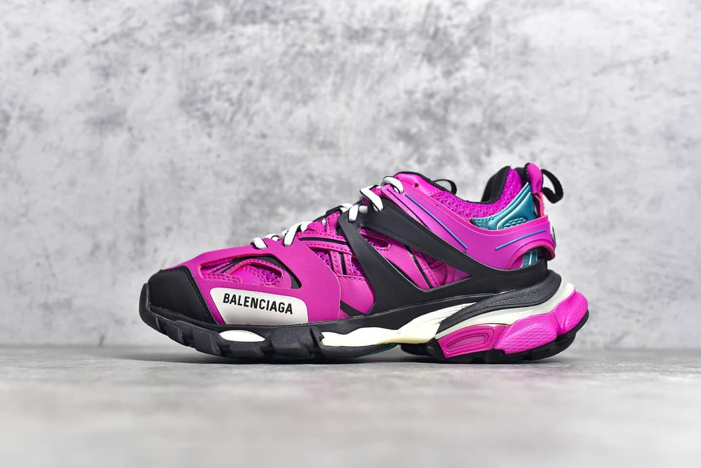 巴黎世家紫黑色老爹鞋顶级复刻 BALENCIAGA Trainers 3.0代 莆田巴黎世家老爹鞋-潮流者之家