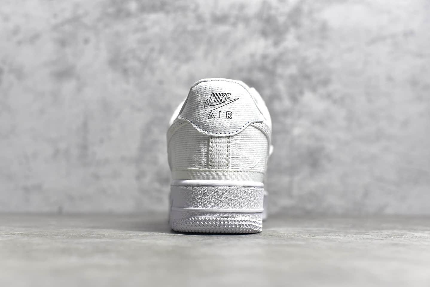 耐克空军白色低帮撕撕乐 NIKE Air Force 1'07 空军可撕鞋面设计 耐克空军DIY鞋款 货号:CJ1650-101-潮流者之家