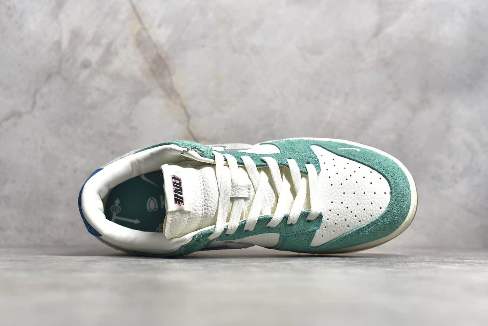 耐克Dunk SB KASINA 联名款板鞋 KASINA x NIKE SB Dunk Low 耐克Dunk白绿麂皮低帮 货号:CZ6501-101-潮流者之家