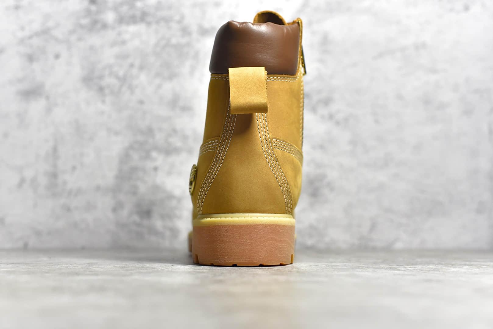 天伯伦斯图西联名大黄靴 Timbeland x Stussy 6 lnch boot 天伯伦秋冬款防水防污高帮马丁靴-潮流者之家