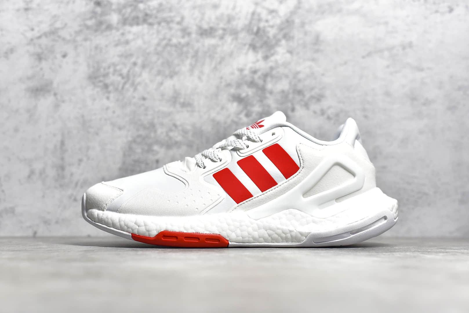 阿迪达斯夜行者二代白红BOOST跑鞋 adidas Day Jogger 阿迪达斯爆米花反光复古 货号:FW4819-潮流者之家