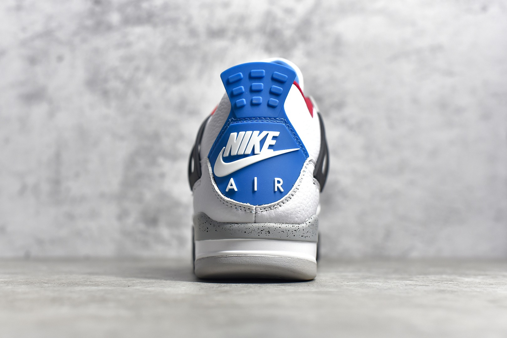 "AJ4鸳鸯红蓝实战球鞋 Air Jordan 4 Tattoo ""What The""鸳鸯 货号:CI1184-146-潮流者之家"