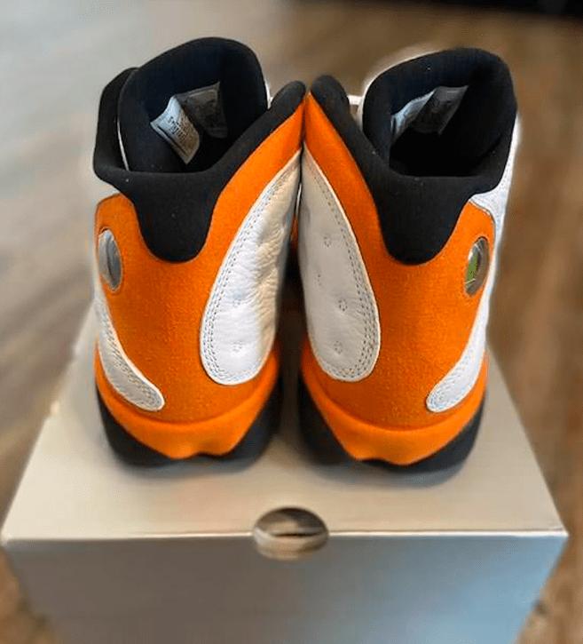 """AJ13扣碎最新实物兔 Air Jordan 13 """"Starfish"""" 白橙AJ13数字韩球鞋元旦节发售 货号:414571-108-潮流者之家"""